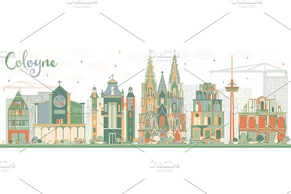 Abstract Cologne Skyline