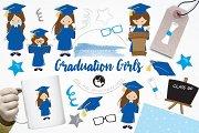 Graduation Girls illustration pack