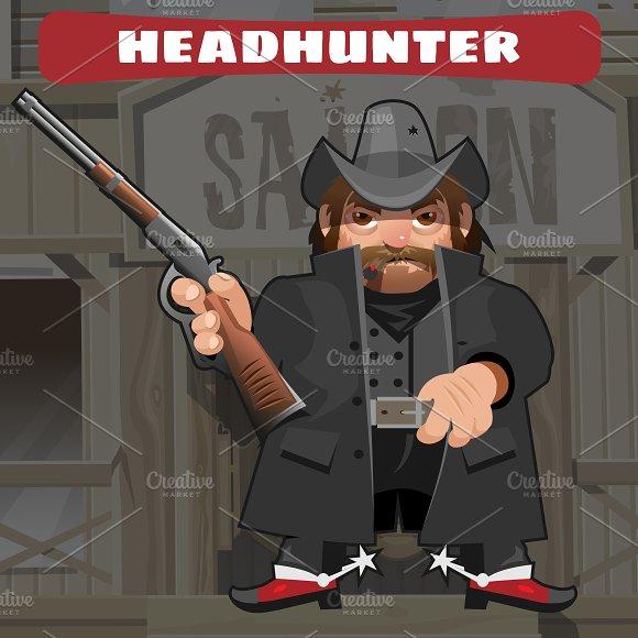 Сool adult man with a gun