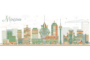 Abstract Macau Skyline