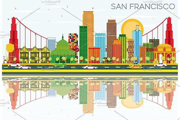 San Francisco Skyline in Illustrations