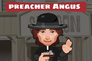 Preacher man, cartoon character