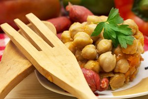 chickpeas with chorizo