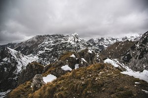 Mountain Landscape in Autumn, Winter
