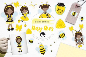 Busy Bees illustration pack