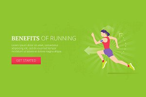Benefits of running web banner