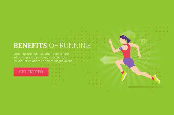 Benefits Of Running Web Banner