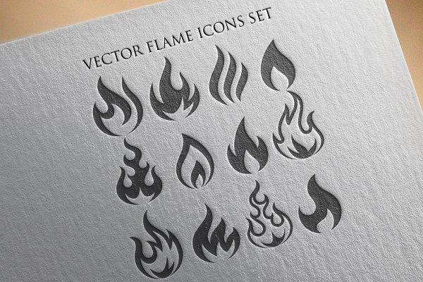 Vector Flames Illustration