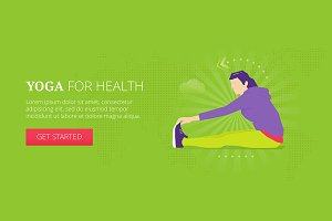 Yoga for health web banner