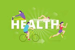 Health typographic poster