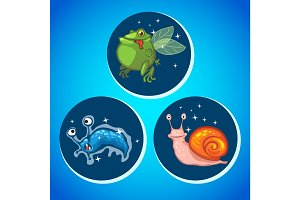 Three fantastic animals alien