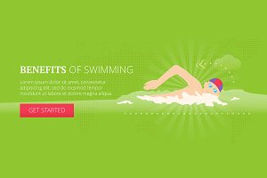 Benefits of swimming web banner