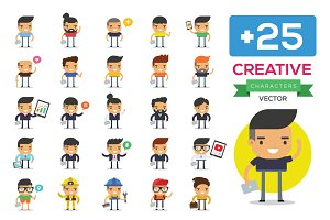 25 Creative Men Character Design