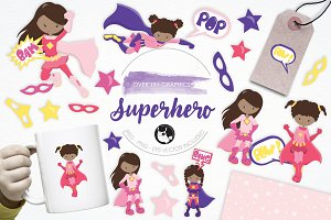 Superhero illustration pack