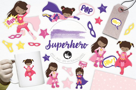 Superhero Illustration Pack
