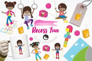 Recess Fun illustration pack