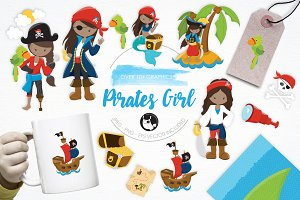 Pirates Girl illustration pack