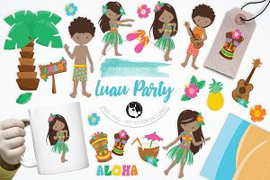 Luau Party illustration pack