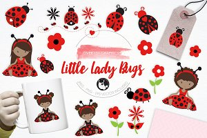 Little Lady Bugs illustration pack
