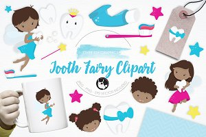 Tooth Fairy Clipart illustrations