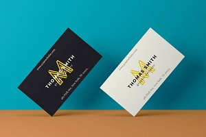Realistic Business Card Mock-Up #01