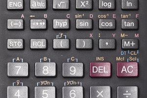 Scientific calculator keypad
