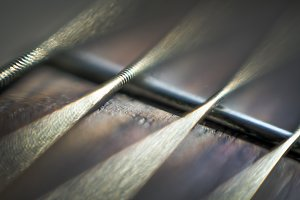Guitar strings close up