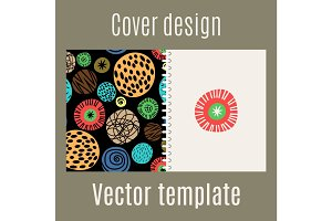 Cover design with polka dots pattern