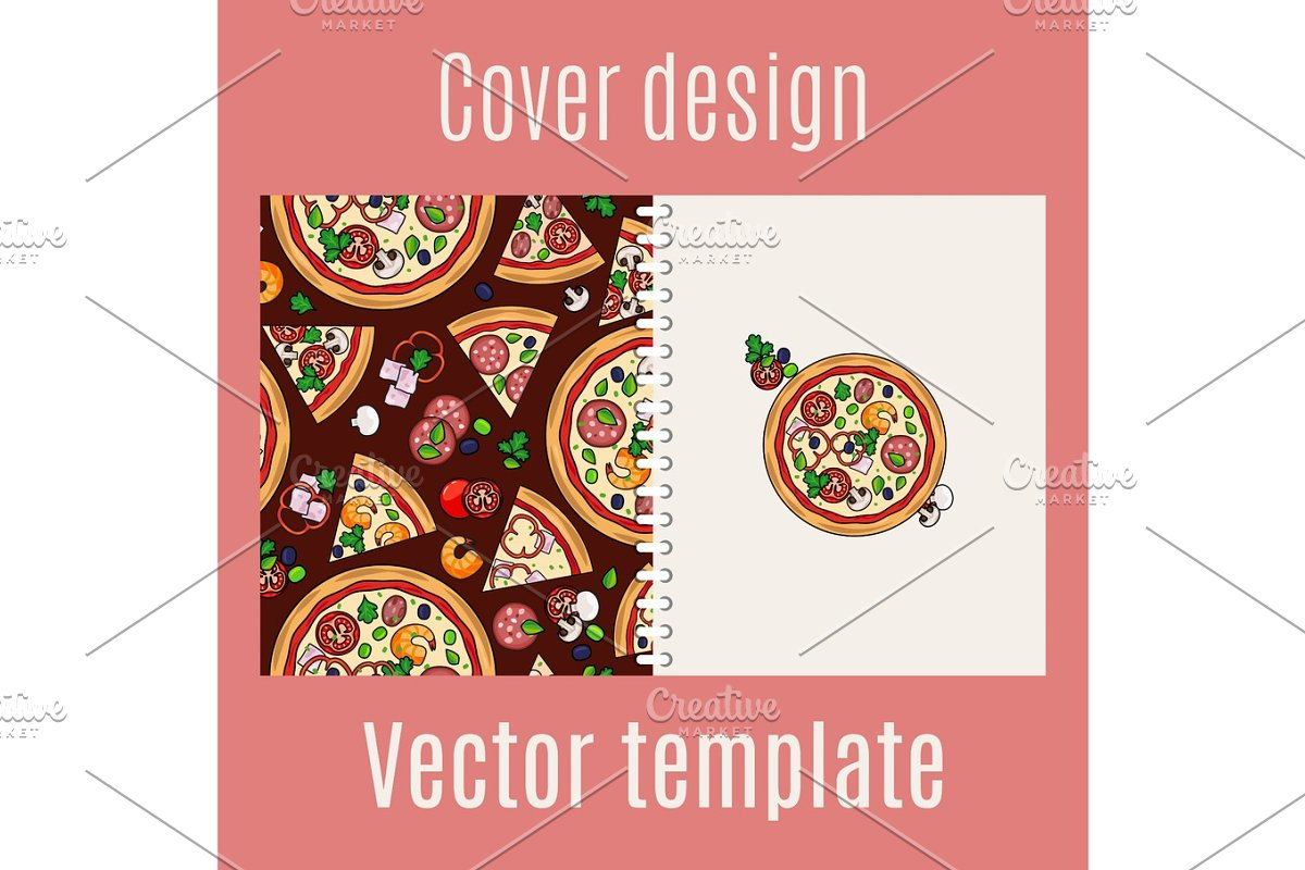 Cover design with pizza pattern