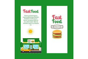 Fast food restaurant vertical flyers