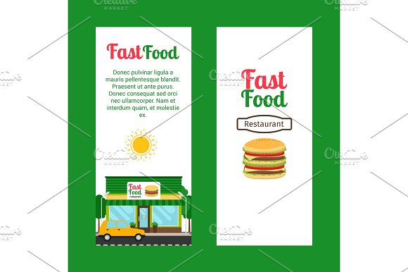 Fast Food Restaurant Vertical Flyers
