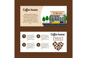 Coffee house horizontal flyers