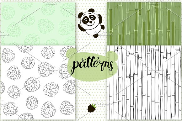 Bears in Patterns - product preview 3