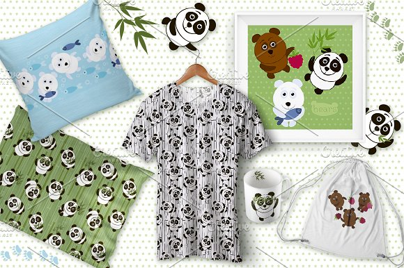 Bears in Patterns - product preview 4