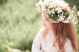 Girl with floral wreath
