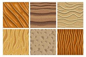 Set of sand seamless pattern