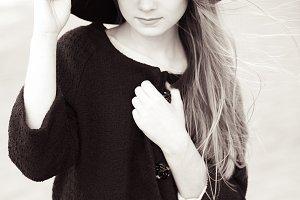 Stylish teenager girl