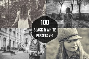 100 B&W Lightroom Presets
