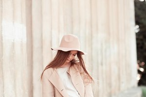 Stylish girl outdoors
