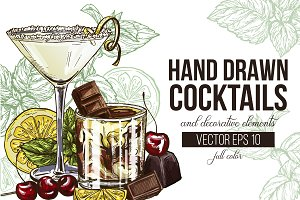 13 Cocktails, Hand Drawn Collection