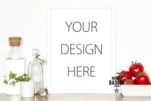 Kitchen white frame mockup