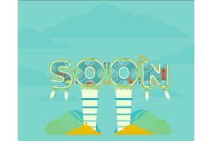 Coming Soon vector illustration