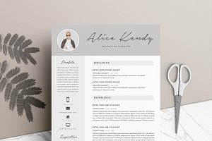 resume template 4 pages moonlight resume templates creative market
