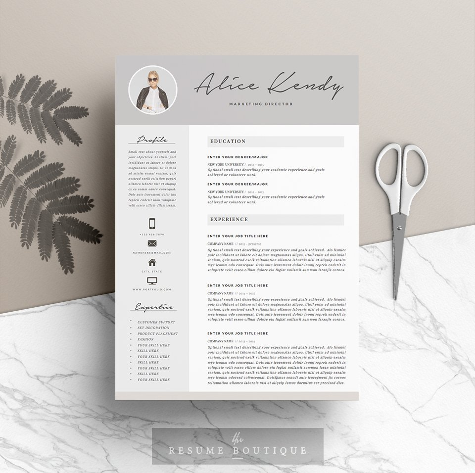 resume template 4 pages charming resume templates creative market