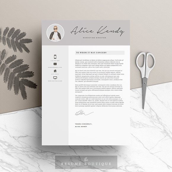 Resume Template 4 pages | Charming ~ Resume Templates ~ Creative Market