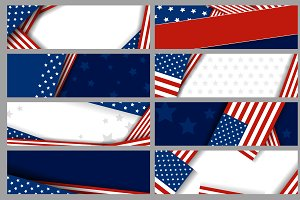Set vector USA background design