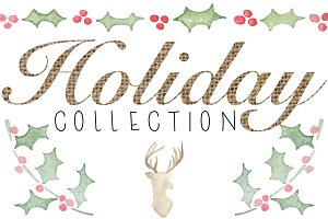 Watercolor Holiday Collection