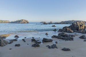 The beach of Ris in Noja
