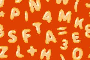 Alphabet soup seamless pattern