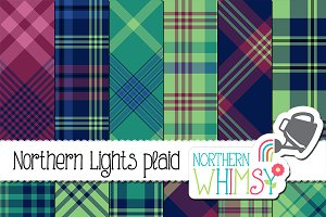 Northern Lights Plaid Patterns